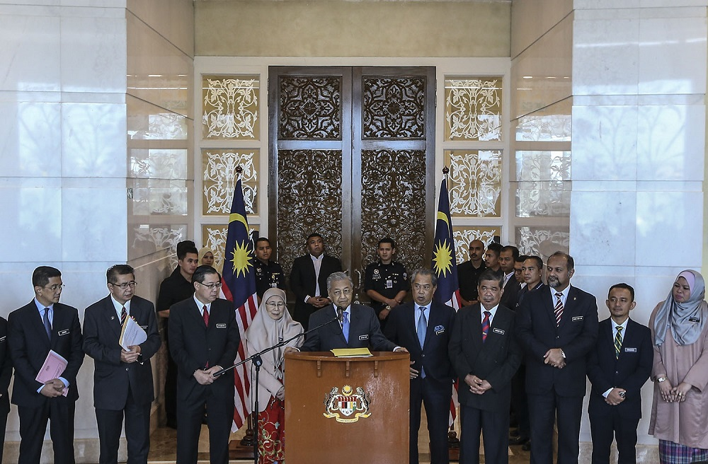 Mahathir and the PH administration are racing against time to deliver on 60 election manifesto pledges, including 10 that are meant to be realised within 100 days of winning the general election. — Picture by Azneal Ishak