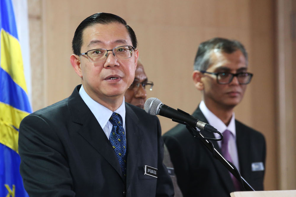 Finance Minister Lim Guan Eng speaks during a press conference at the Ministry of Finance in Putrajaya May 31, 2018. — Picture by Azinuddin Ghazali