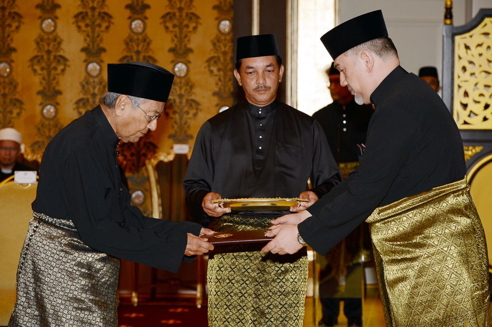 Dr Mahathir said the delay in his swearing-in ceremony should not have happened. — Bernama pic