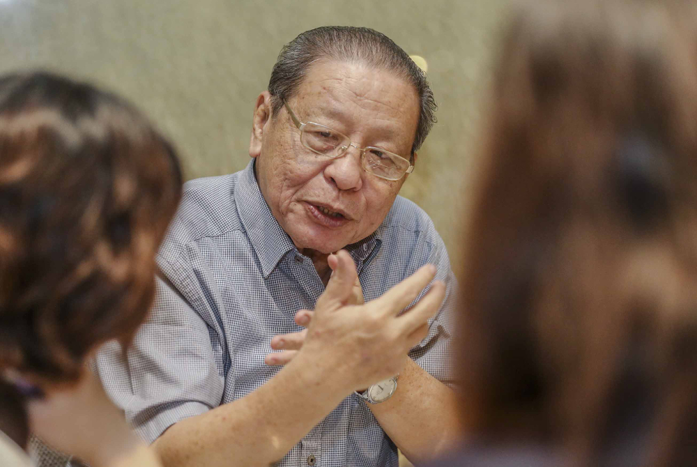 Lim Kit Siang today denounced Prime Minister Tan Sri Muhyiddin Yassin and his Cabinet for allegedly putting their personal political interests ahead of the public during the current Covid-19 pandemic. — Picture by Firdaus Latif