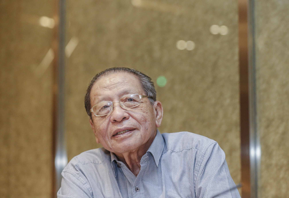 Lim Kit Siang speaks to Malay Mail during an interview in Sheraton, Petaling Jaya May 27, 2018. The elder DAP politician said 2020 is a make-or-break year for PH to convince Malaysians that they are serious in delivering their promises. — Picture by Firdaus Latif