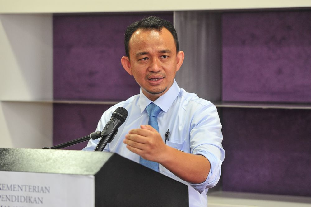 Education Minister Maszlee Malik speaks at the Ministry of Higher Education in Putrajaya May 31, 2018. — Picture by Shafwan Zaidon