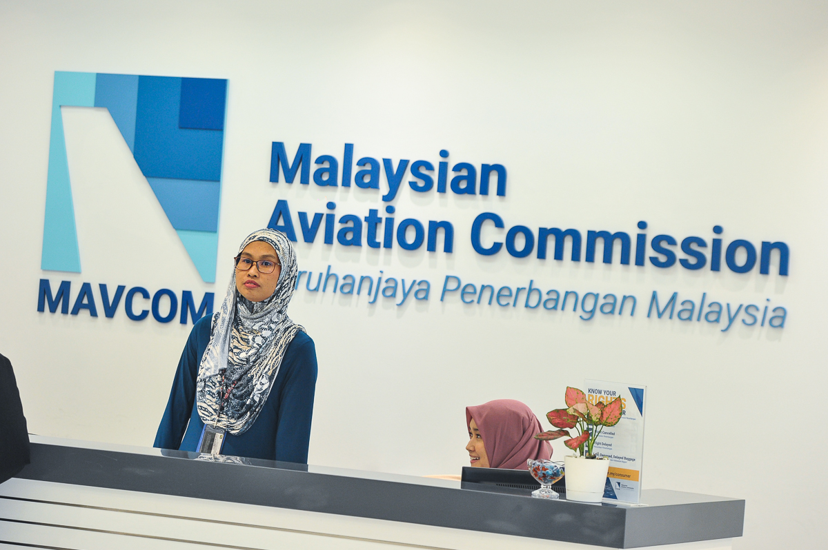 Mavcom said today its responsibility was to protect consumers, after two airlines that broke aviation regulations called for the commission's closure. — Picture by Shafwan Zaidon
