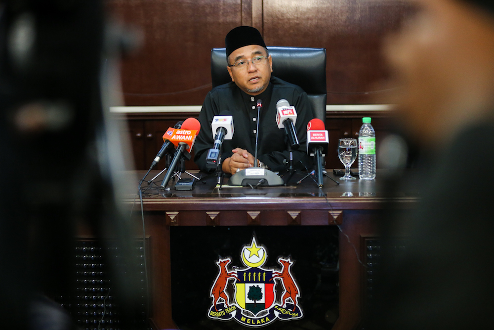 Current Chief Minister Adly Zahari said the move was to inculcate good administrative practices among the assemblymen who would be appointed to the post later. — Picture by Ahmad Zamzahuri