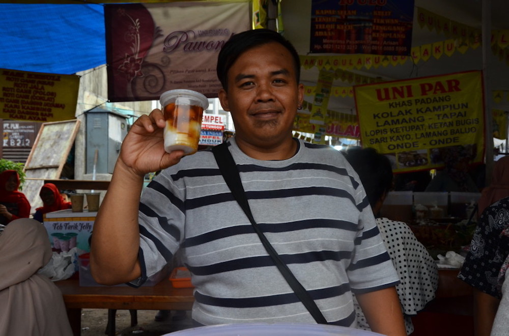 Yanny Gondrong, one of the seasonal sellers at Benhil Market who sets up shop every Ramadan. — Jakarta Globe pic