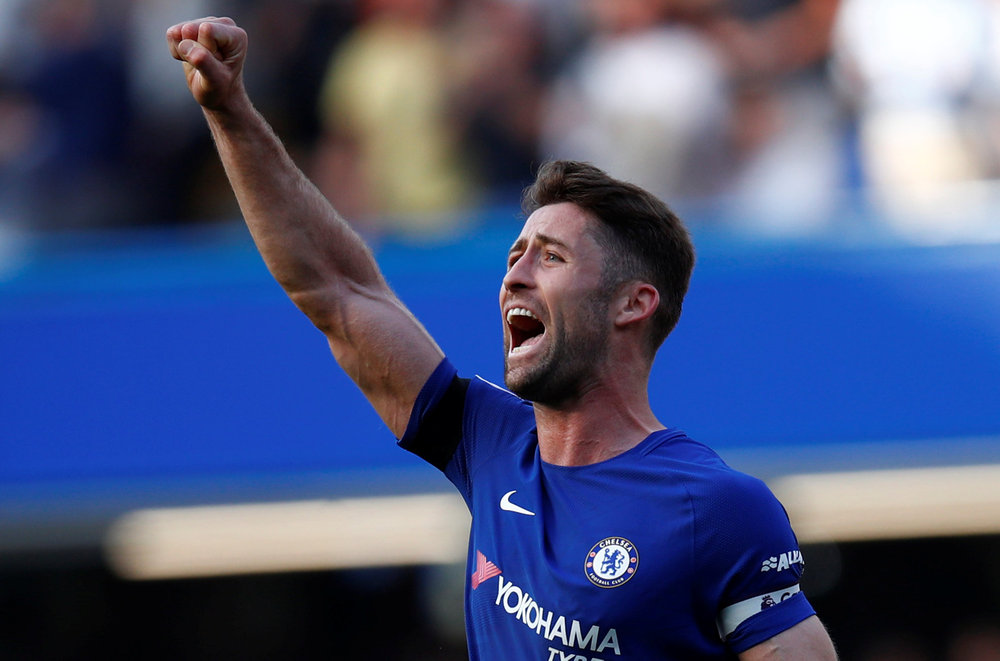 Defender Gary Cahill was out of contract after spending seven years at Stamford Bridge, where he won a pair of Premier League titles, the Champions League and the Europa League twice. — Reuters pic