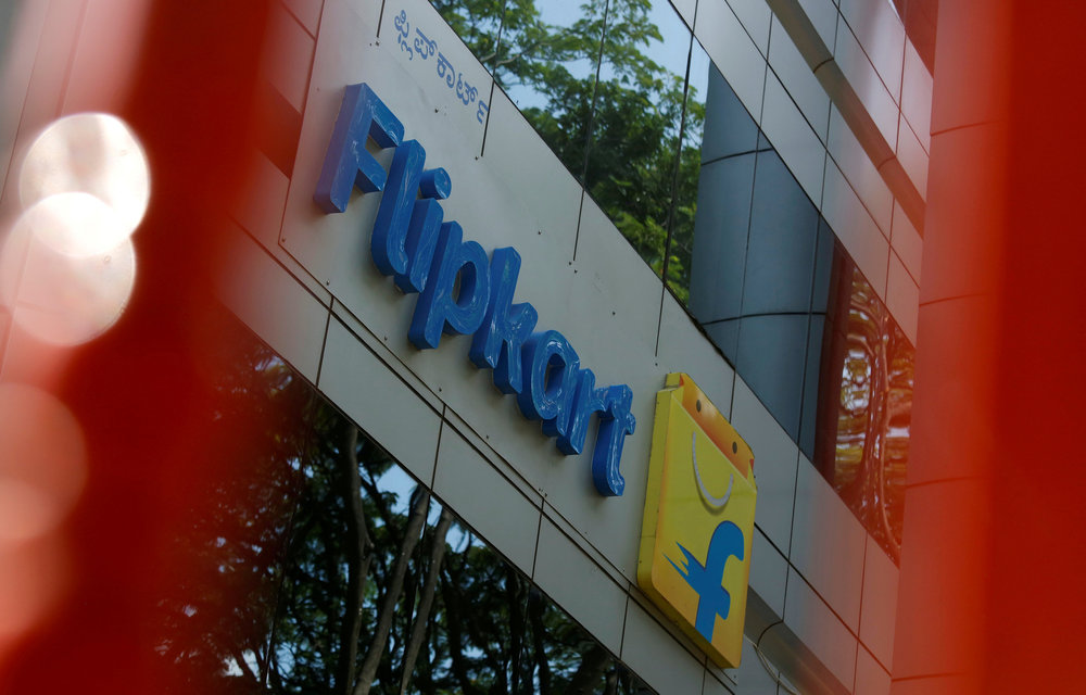 The logo of India's e-commerce firm Flipkart is seen on the company's office in Bengaluru, India April 12, 2018. — Reuters pic