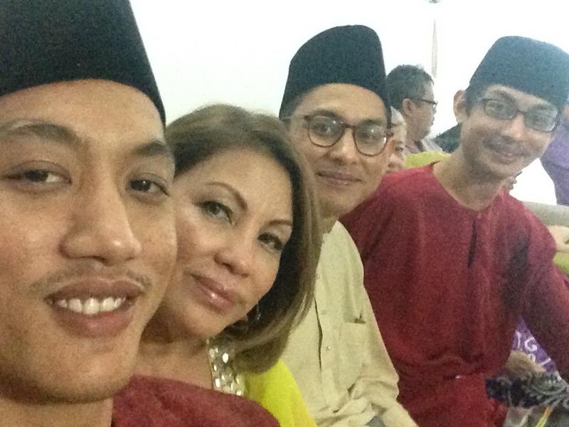 Liza and her sons (from left) Mubin Jamil, Zarif Jamil and Adri Jamil.
