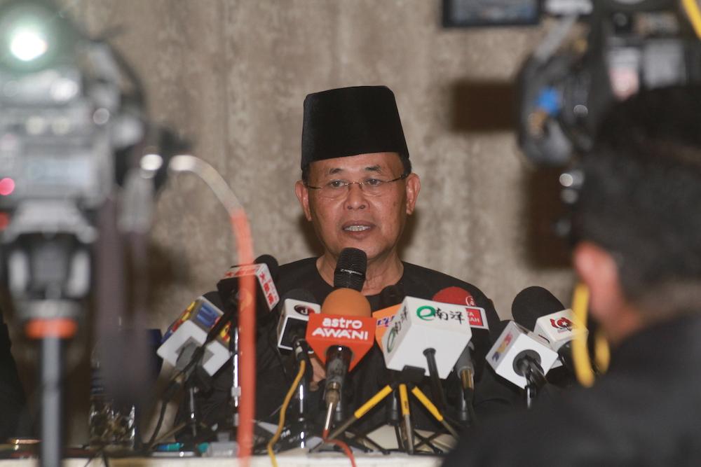 Earlier today, Bersatu secretary-general Datuk Seri Hamzah Zainudin reportedly said that Osman is still a Bersatu member. — Pictures by Ben Tan