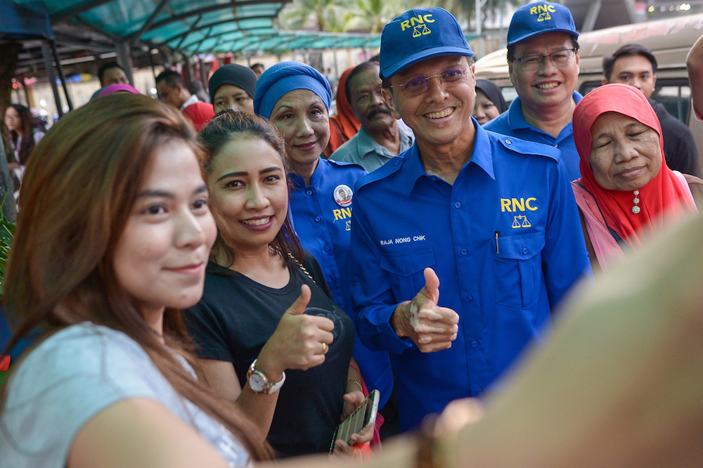Raja Nong Chik is from the local Umno division but has never won the Lembah Pantai seat. — Picture by Mukhriz Hazim