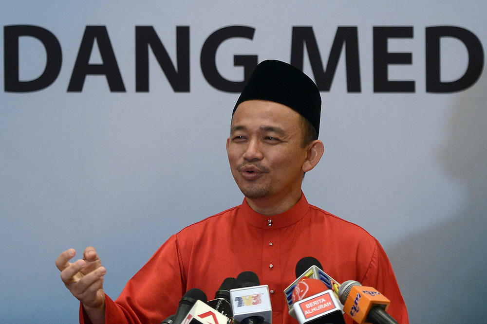 Maszlee also said that the ministry was conducting an in-depth security analysis to identify weaknesses in the system. — Picture by Mukhriz Hazim
