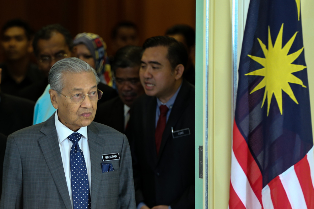Dr Mahathir said he had hoped to fill the positions this week but may have to wait until next week due to a tight schedule. ― Picture by Ahmad Zamzahuri