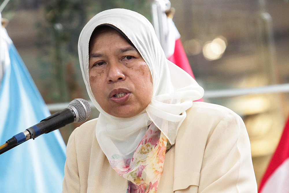 Zuraida said she would like to call upon property developers with properties priced at RM500,000 and below to contact the ministry. — Picture by Miera Zulyana