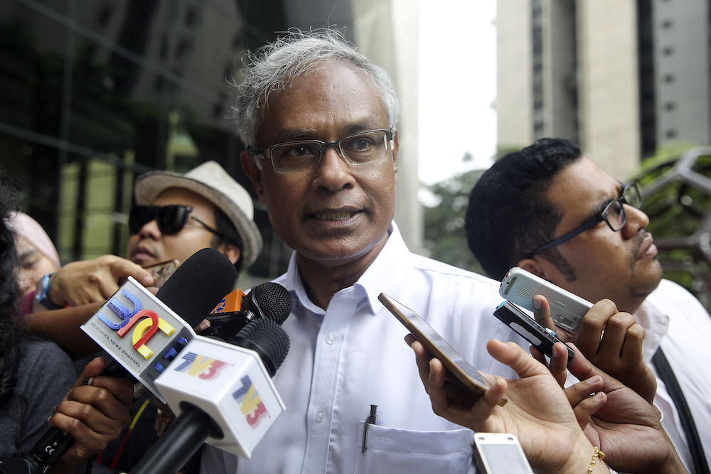 Dr Michael Jeyakumar Devraj speaks to reporters at Ilham Tower in Kuala Lumpur June 27, 2018. — Picture by Yusof Mat Isa