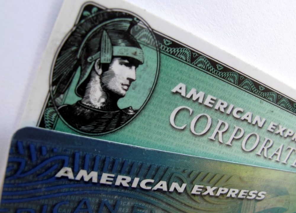 American Express and American Express corporate cards are pictured in Encinitas, California, October 17, 2011. — Reuters pic
