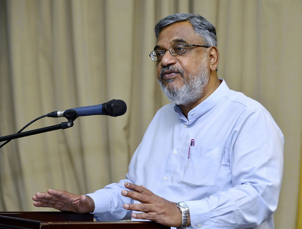 UKM's Datuk Denison Jayasooria said Malaysians should be wary of PAS' push for a Shariah-based governance where non-Muslims's place is under an Islamic society and order. ― Picture by Ham Abu Bakar