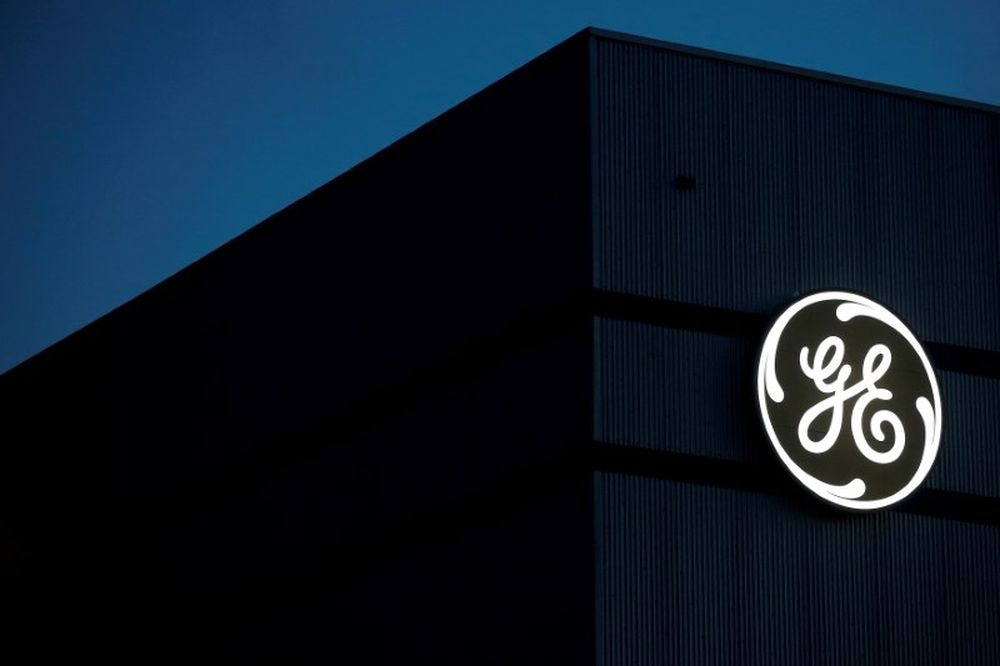 The General Electric logo is pictured on the General Electric offshore wind turbine plant in Montoir-de-Bretagne, near Saint-Nazaire, France, November 21, 2016. — Reuters pic