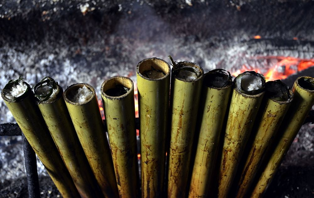Lemang is a popular Raya dish though not so easy to procure overseas. ― Picture by Ham Abu Bakar