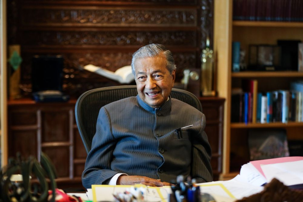 Dr Mahathir Mohamad speaks in an exclusive interview with Malay Mail at the Perdana Leadership Foundation in Putrajaya June 21, 2018. ― Picture by Ahmad Zamzahuri
