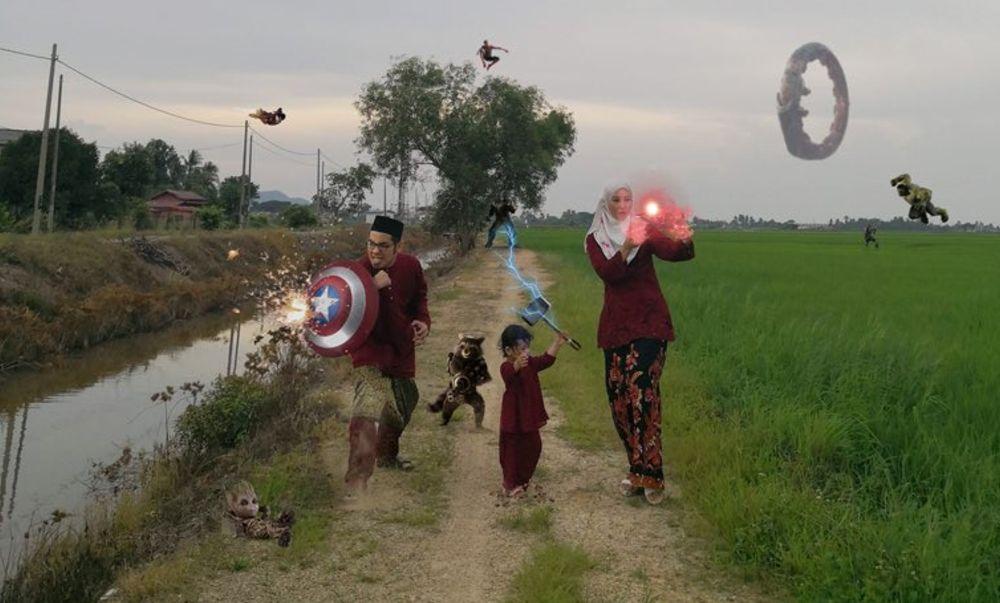 Saving Eid Mubarak from Thanos? — Picture courtesy of Twitter (@NurAfifah)