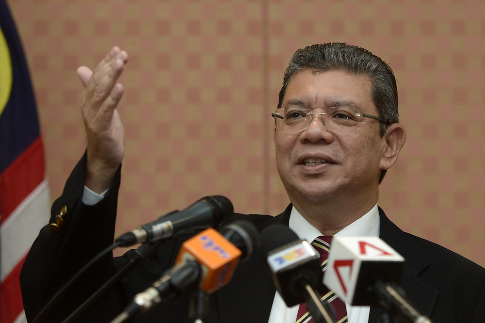 Foreign Minister Datuk Saifuddin Abdullah said Malaysia raised concern about the threat of the US-China trade war which is likely to have repercussions in the region. — Picture by Mukhriz Hazim