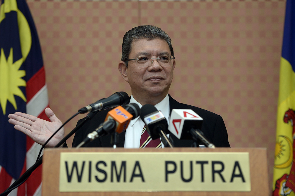 Foreign Minister Datuk Saifuddin Abdullah said a 'closure' for the matter would not only include getting back the funds involved, but also to hold everyone guilty accountable.  — Picture by Mukhriz Hazim