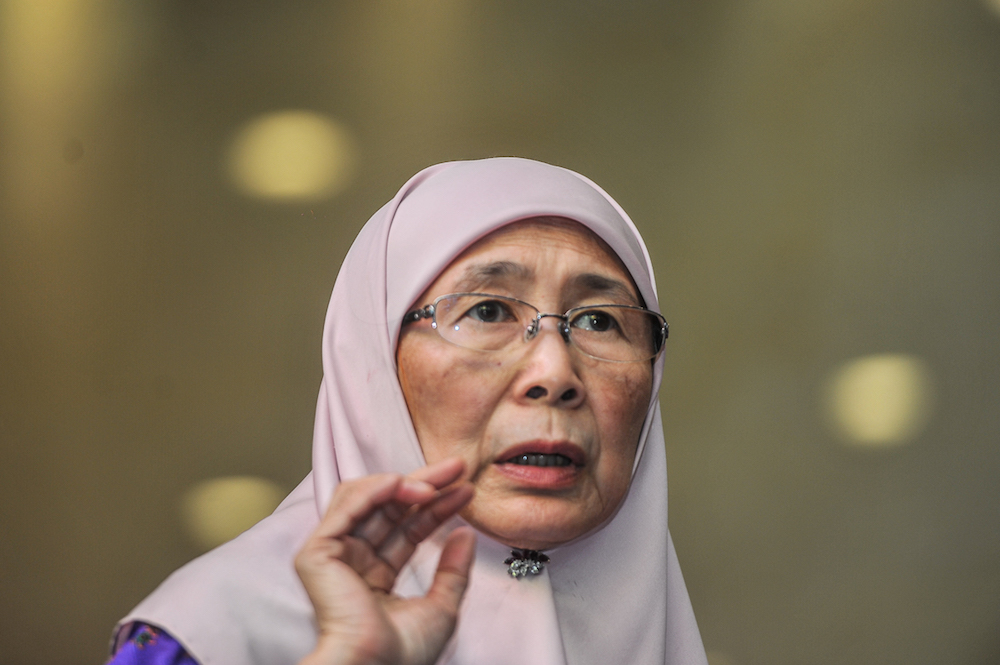 Minister of Women and Family Development Datuk Seri Dr Wan Azizah Wan Ismail said the government is planning to set up a special committee to monitor babysitters operating from their homes. — Picture by Shafwan Zaidon