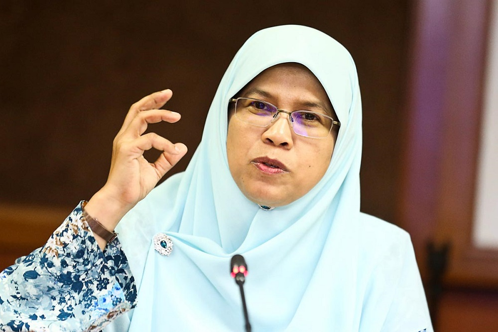 Political secretary to the women, family and community development minister, Rodziah Ismail, speaks during a press conference in George Town July 3, 2018. — Picture by Sayuti Zainudin