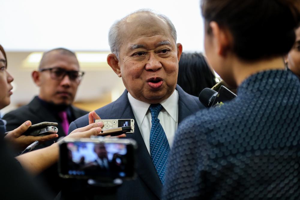 Ku Li said that Umno's main problem was the practice of money politics. — Picture by Ahmad Zamzahuri
