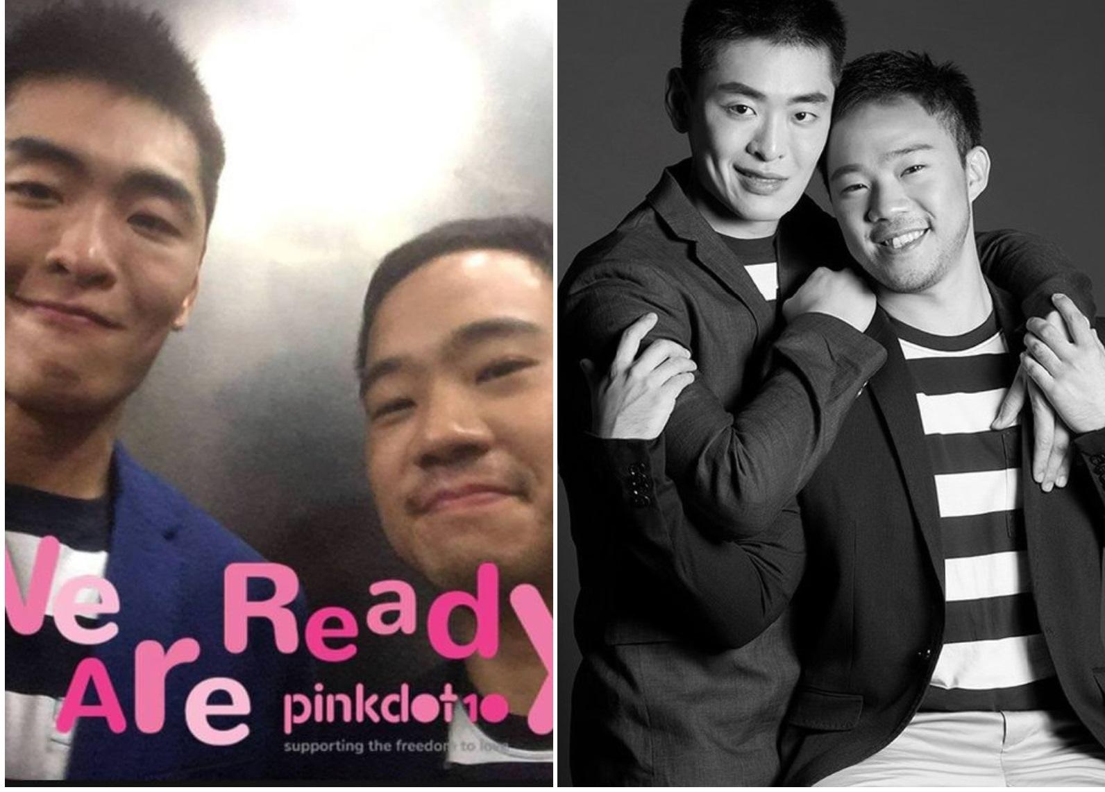 李恒武(左)本月稍早就已经在别的场合公开他与男友Yirui Heng的合照。周五是进一步在面子书昭告世人。-图截取自李恒武脸书-