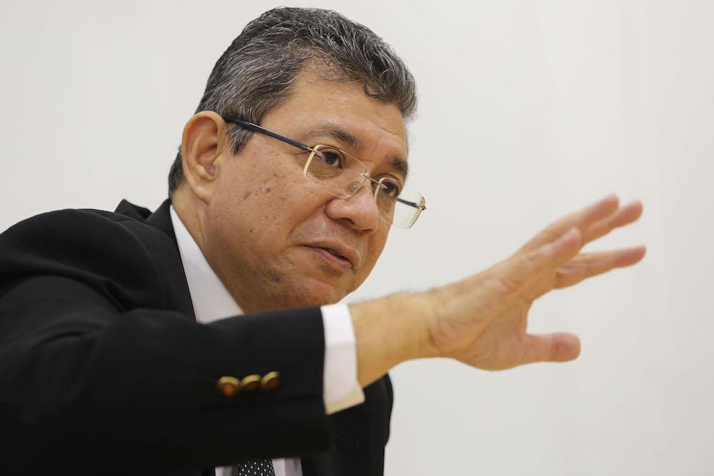 File photo of Datuk Saifuddin Abdullah in Putrajaya July 26, 2018. — Picture by Yusof Mat Isa