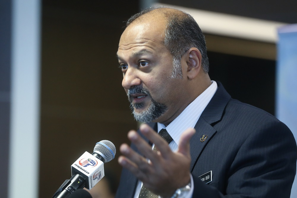 Communications and Multimedia Minister Gobind Singh reiterated that the government had implemented the Mandatory Standard on Access Pricing on June 8 whereby all telcos were given until the end of this year to reduce their respective broadband prices by 25 per cent in stages. — Picture by Zuraneeza Zulkifli