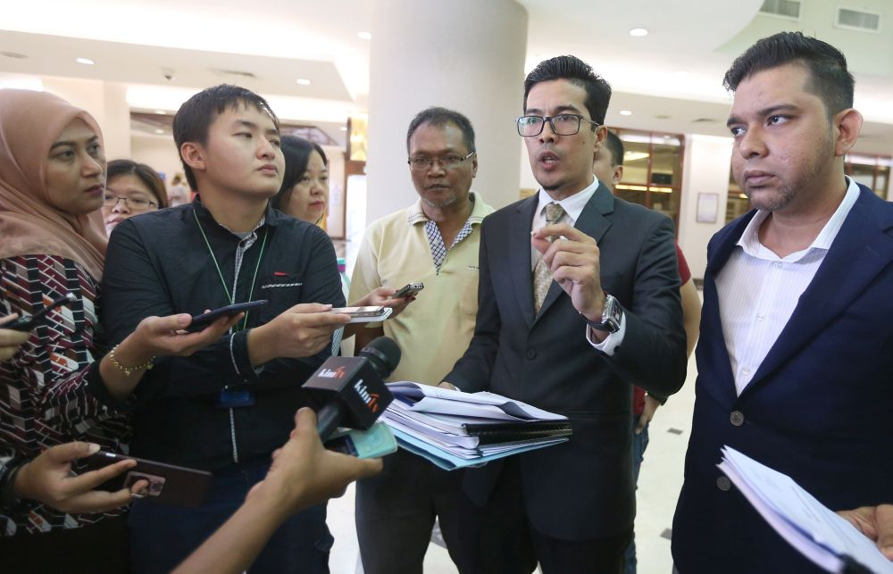 Adnan Seman (2nd right) pointed out that an offence must be punished accordingly, such as murder with death, and doing away with capital punishment will provide criminals an avenue to escape heinous crimes. — Picture by Razak Ghazali