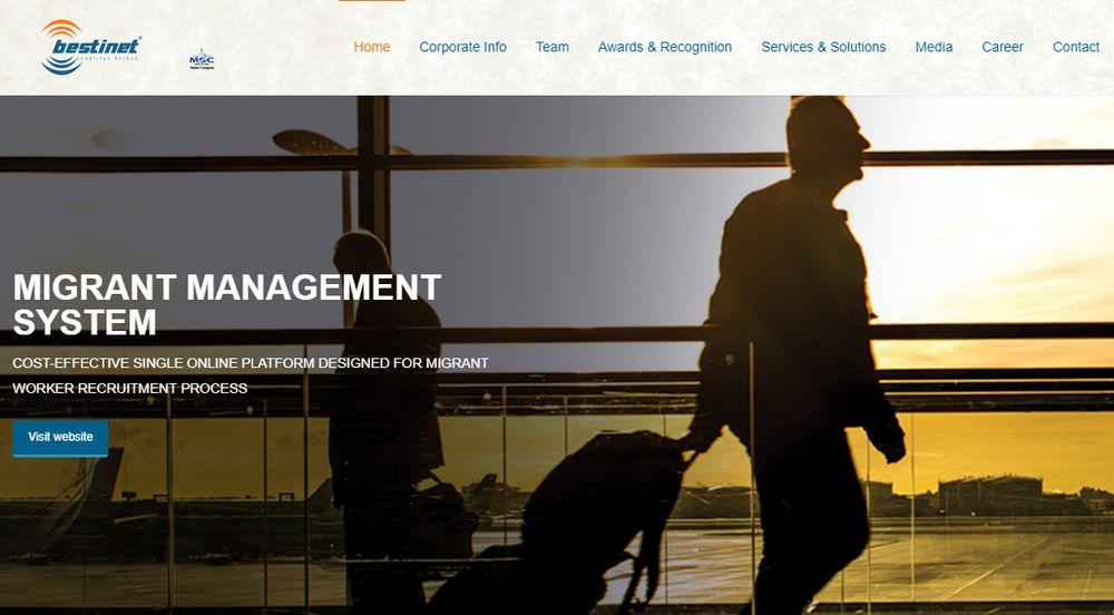 Screengrab of the Bestinet website  www.bestinet.com.my.