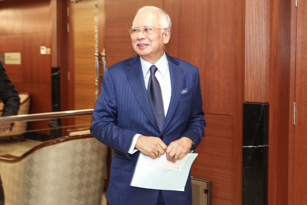 The compiled information is only on one of at least four Najib accounts where funds linked to 1Malaysia Development Berhad (1MDB) or 1MDB former subsidiary SRC International Sdn Bhd were allegedly sent. — Picture by Shafwan Zaidon