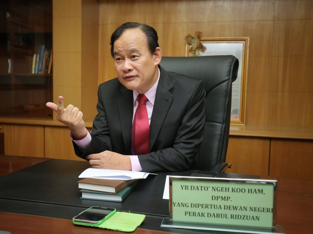 Ten reforms will be implemented in the Perak state legislative assembly to improve its integrity and transparency, newly-elected Speaker Datuk Ngeh Koo Ham said today. ― Picture by Marcus Pheong