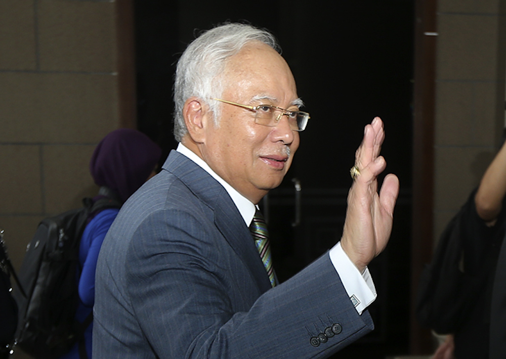 Najib has been charged with seven offences including criminal breach of trust, abuse of power and money laundering. — Picture by Azneal Ishak