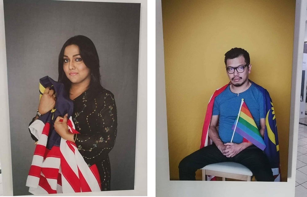Portraits of Nisha Ayub and Pang Khee Teik at the Stripes and Strokes exhibition at George Town Festival 2018.  — Pictures courtesy of social media