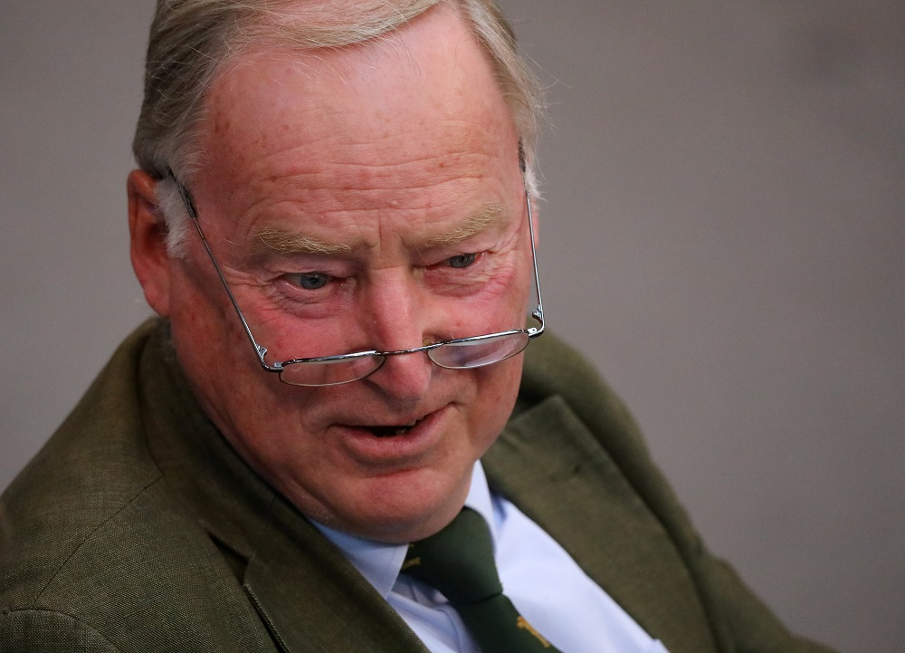 Parliamentary group co-leader Alexander Gauland has accused the government of 'war propaganda' and seeking to establish a 'corona dictatorship'. — Reuters pic