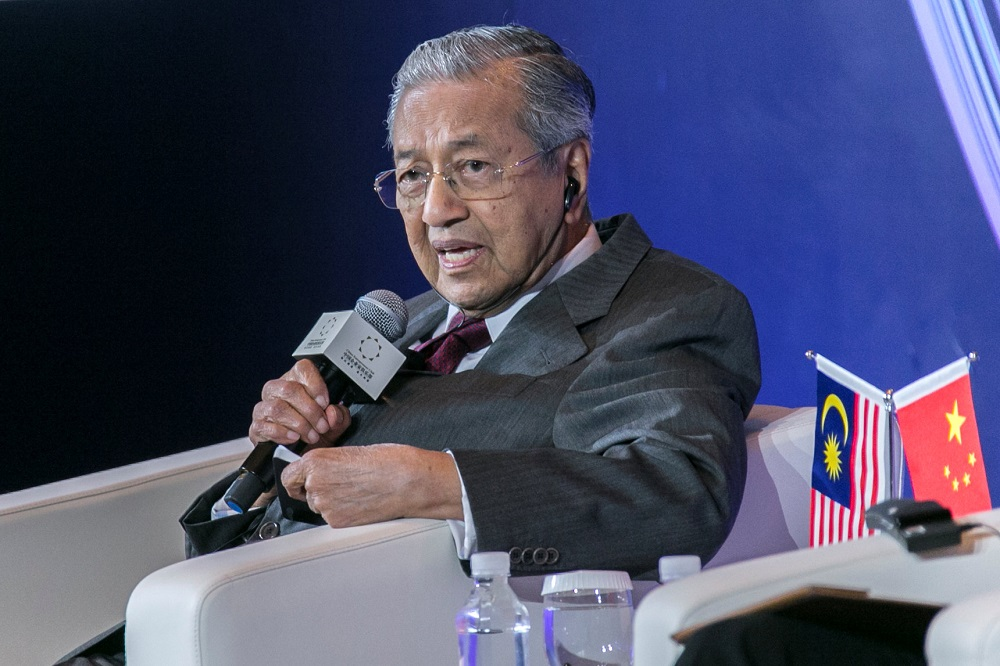 Dr Mahathir said there is no problem with China as far as 'attitudes' are concerned. — Reuters pic
