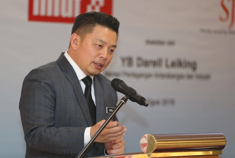 Datuk Darell Leiking's lawyers said the claim that Marcel Jude Joseph made in a police report against the former international trade and industry minister was baseless, noting he made a similar allegation in a case that was thrown out of court earlier this year. — Picture by Razak Ghazali