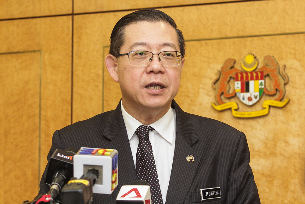 Finance Minister Lim Guan Eng said the police report will give former Prime Minister Datuk Seri Najib Razak no excuses in answering queries related to the missing funds that have affected 121,29 companies and individuals. — Picture by Miera Zulyana