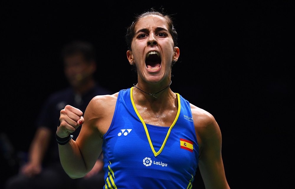 Marin hurt herself in the Indonesia Masters final in January and was forced to retire while leading Saina Nehwal of India. — AFP pic