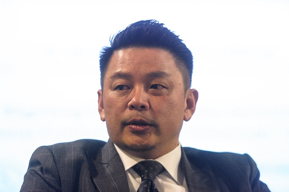 Minister of International Trade and Industry Darell Leiking said the ministry targets 450 qualified Small and Medium Enterprises (SME) to sign up with the RA programme next year. — Picture by Shafwan Zaidon