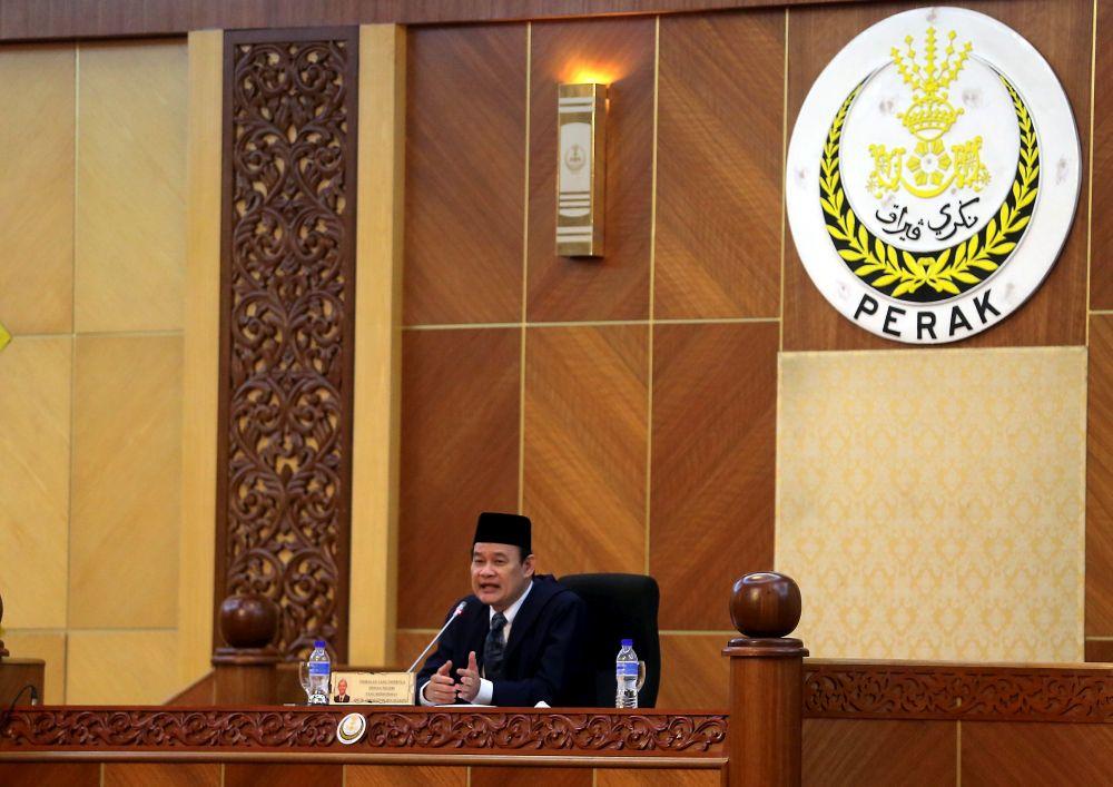 Datuk Ngeh Koo Ham resigned as Perak State Assembly Speaker today. — Picture by Farhan Najib
