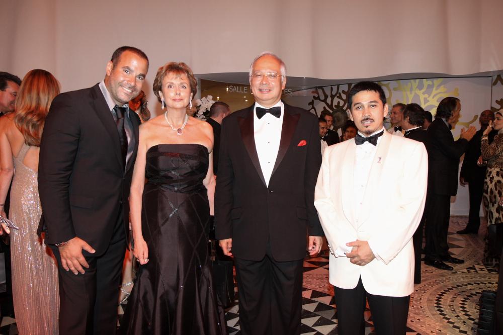 International diamond jeweller Samer Halimeh together with former prime minister Datuk Seri Najib Razak in an undated photograph.