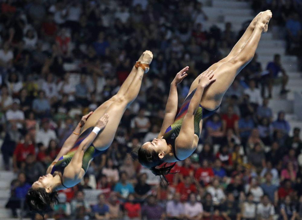 年仅22岁的诺达比塔和28岁的队友吴丽颐将在周五(7月30日)的女单3米跳板跳水预赛登场。-路透社-