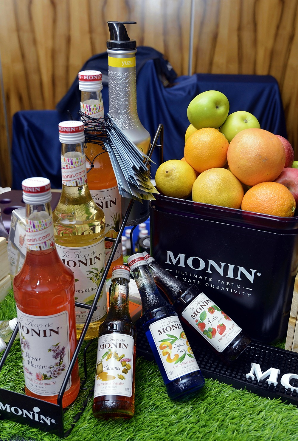 Mocktails by Monin's array of gourmet fruit syrups.