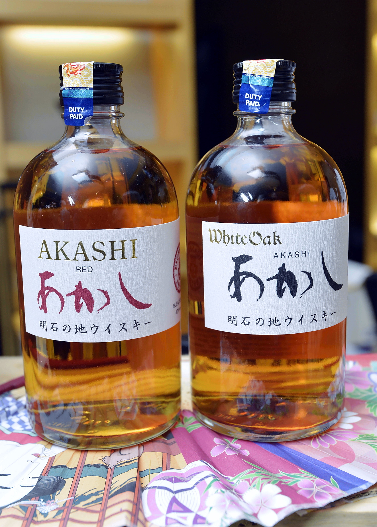 Akashi's Japanese whiskys were an unusual treat.