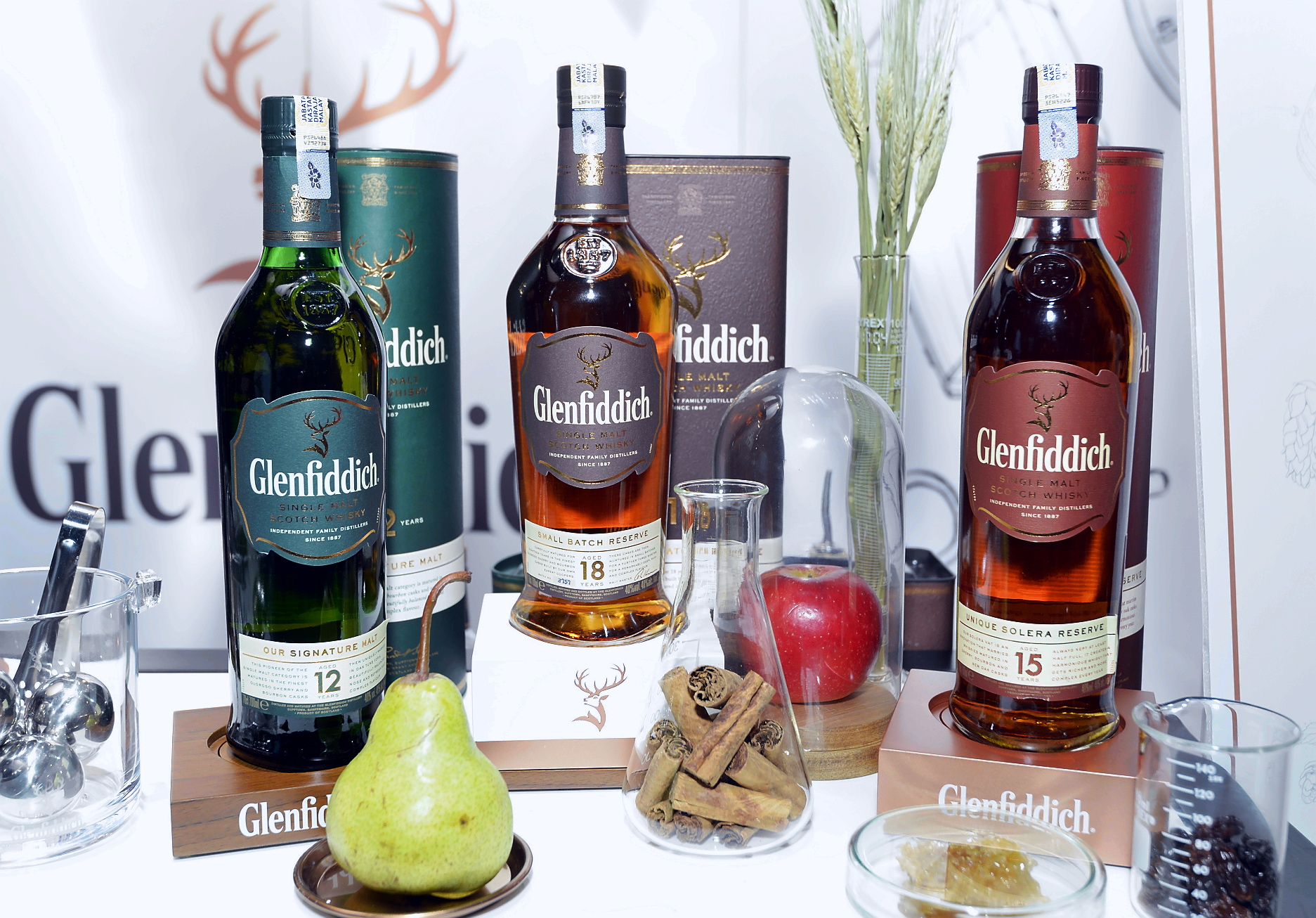 Glenfiddich's 12, 15, and 18-year-old were paired with a selection of chocolates were a delight.